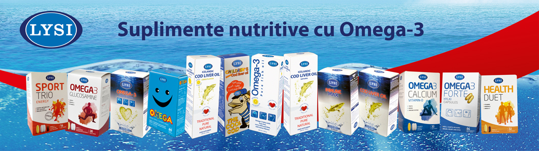 Suplimente nutritive cu Omega-3